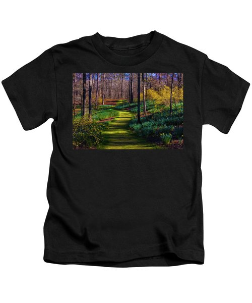 Shaded Spring Stroll Kids T-Shirt