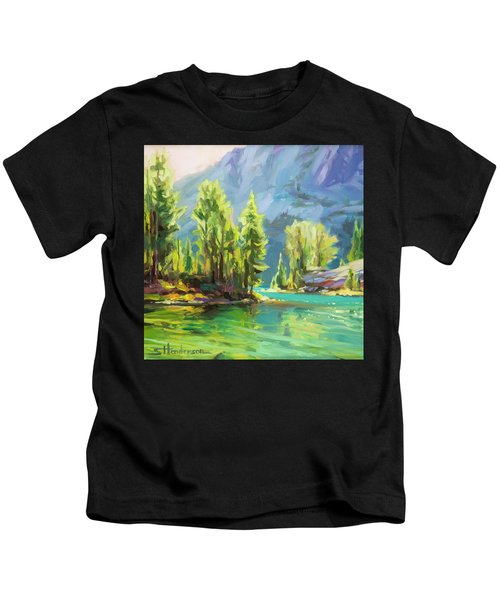 Shades Of Turquoise Kids T-Shirt