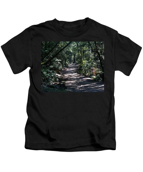 Shady Road On Mt Tamalpais Kids T-Shirt