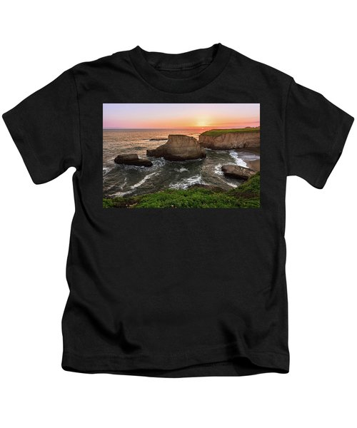 Shark Fin Cove Sunset Kids T-Shirt