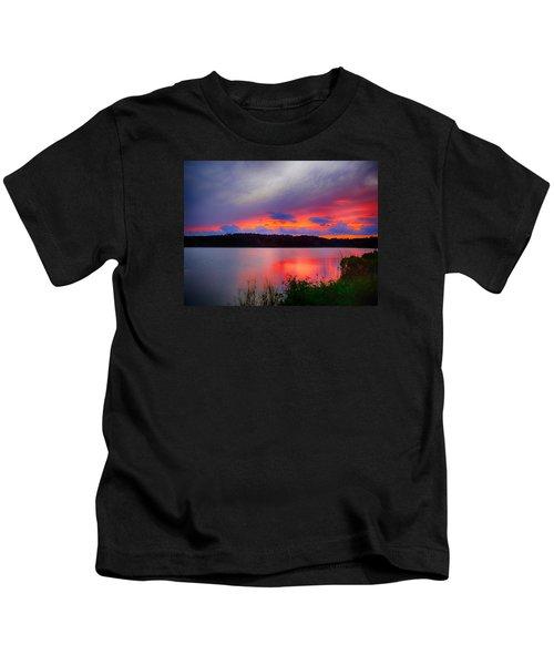Shelf Cloud At Sunset Kids T-Shirt