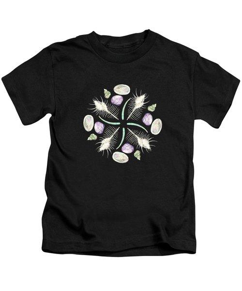 Shell Mandala - Philippines - Watercolor Kids T-Shirt