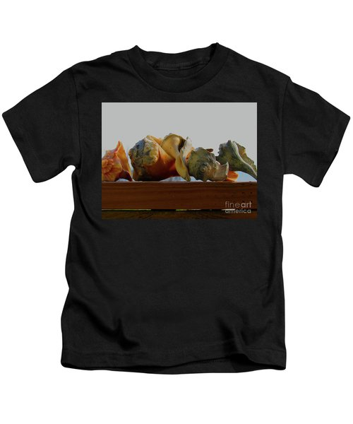 Shells Of The Sea In Orange And Gray Kids T-Shirt