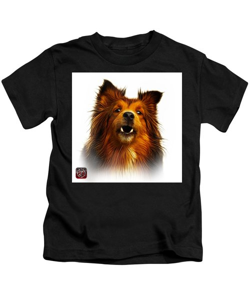 Sheltie Dog Art 0207 - Wb Kids T-Shirt