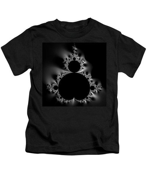 Shiny Cool Mandelbrot Set Black And White Kids T-Shirt