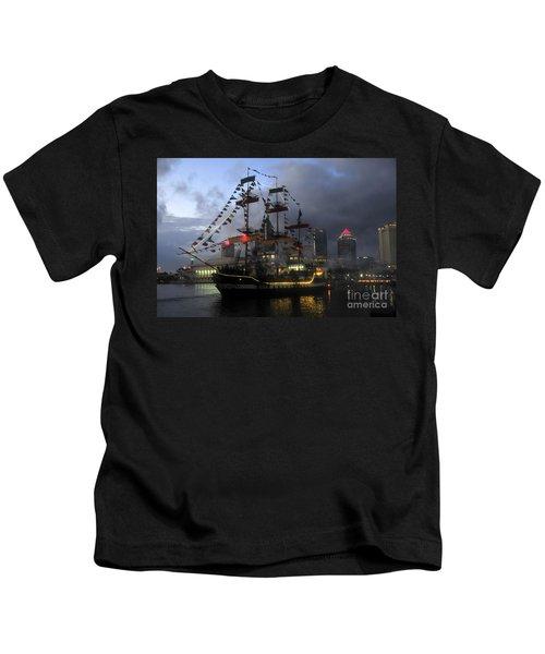 Ship In The Bay Kids T-Shirt