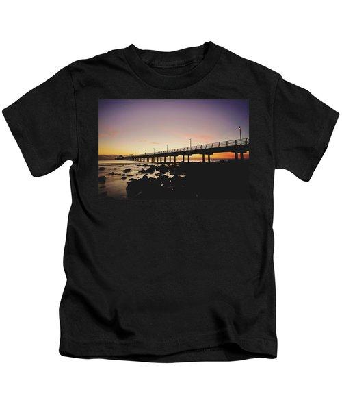 Shorncliffe Pier At Dawn Kids T-Shirt
