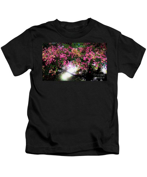 Shower Tree Flowers And Hawaii Sunset Kids T-Shirt