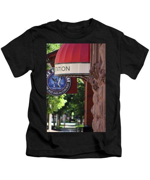 Sidewalk View Jazz Station  Kids T-Shirt