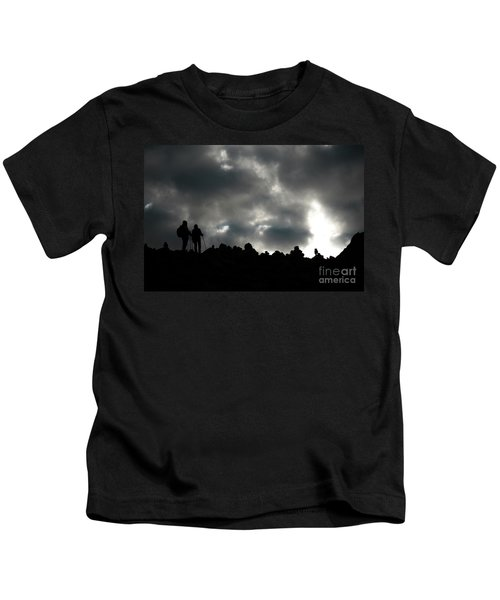 Silhouette Of Man On The Pass Himalayas Yantra.lv Kids T-Shirt