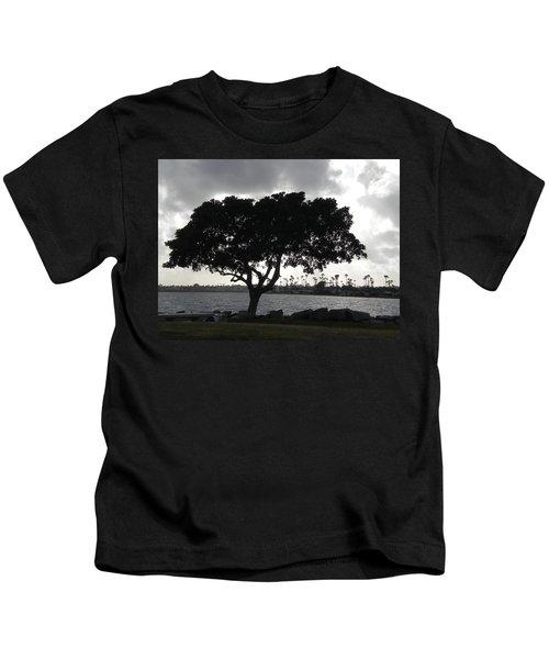 Silhouette Of Tree Kids T-Shirt