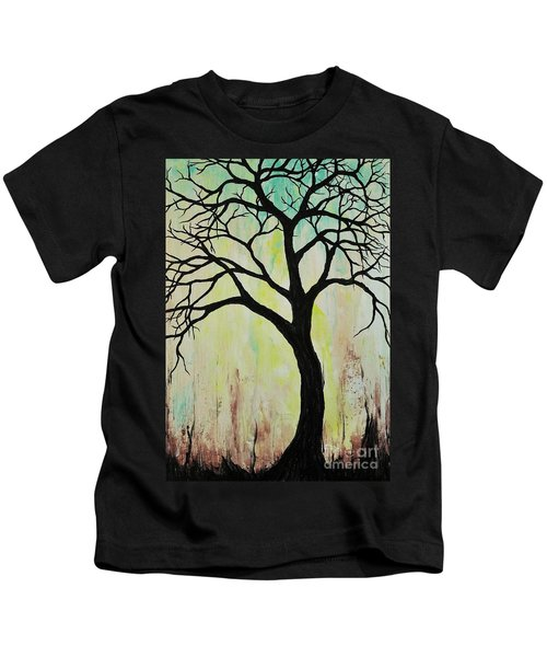 Silhouette Tree 2018 Kids T-Shirt