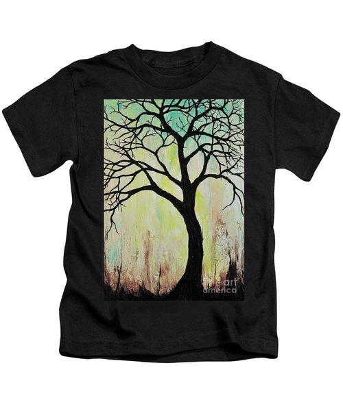 Silhouette Tree 2018 Kids T-Shirt