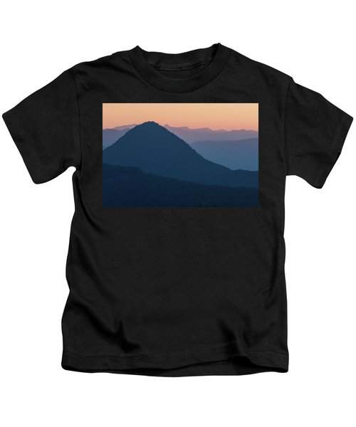 Silhouettes At Sunset, No. 2 Kids T-Shirt
