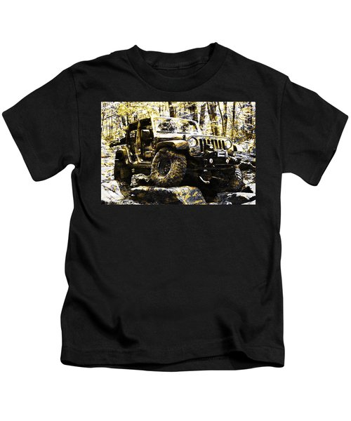 Silver And Gold Jeep Wrangler Jku Kids T-Shirt
