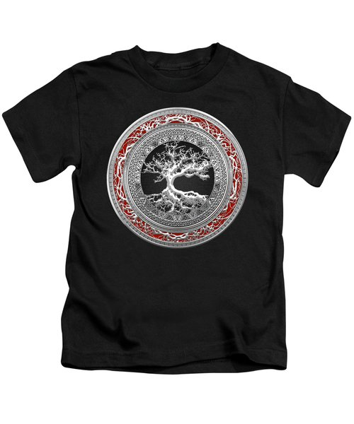 Silver Celtic Tree Of Life Kids T-Shirt