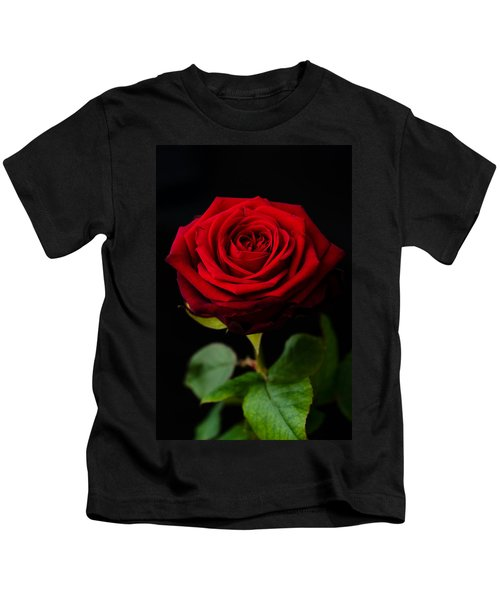 Single Rose Kids T-Shirt