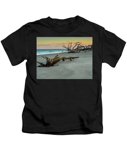 Sunset On Jekyll Island Kids T-Shirt