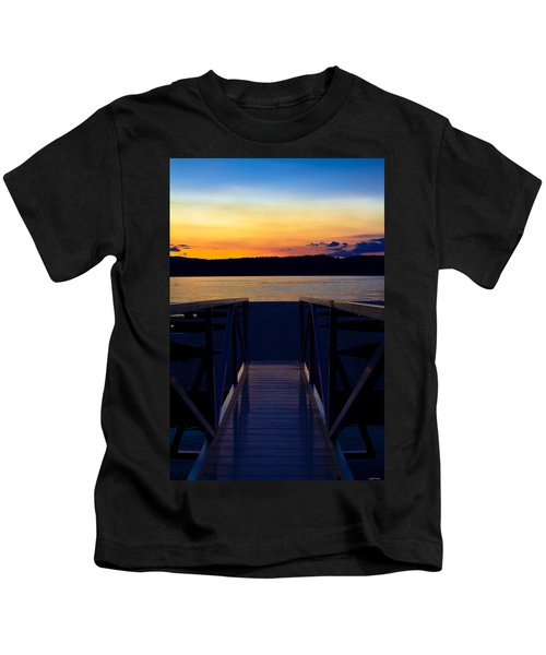 Sitting On The Dock Of A Bay Kids T-Shirt