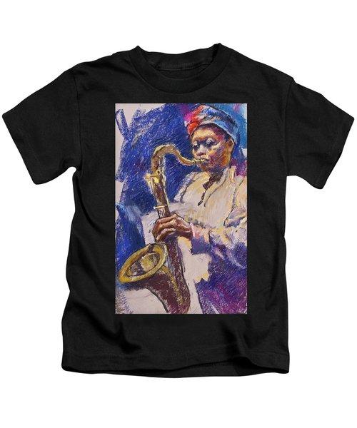 Sizzlin' Sax Kids T-Shirt