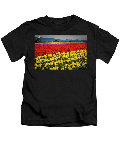 Skagit Valley Tulips  Kids T-Shirt