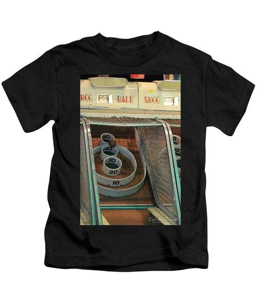 Skee Ball At Marty's Playland Kids T-Shirt