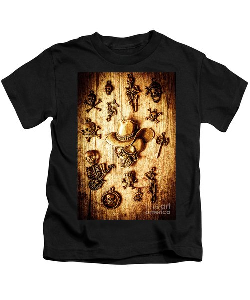 Skeleton Pendant Party Kids T-Shirt