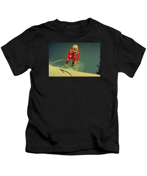 Skiing In Crans Montana Kids T-Shirt