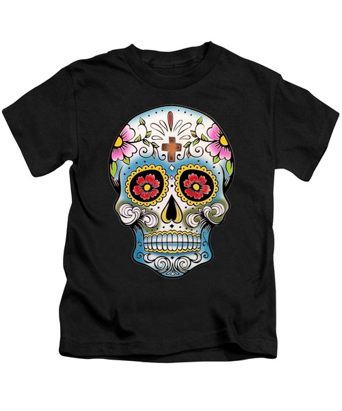 Skull 10 Kids T-Shirt by Mark Ashkenazi