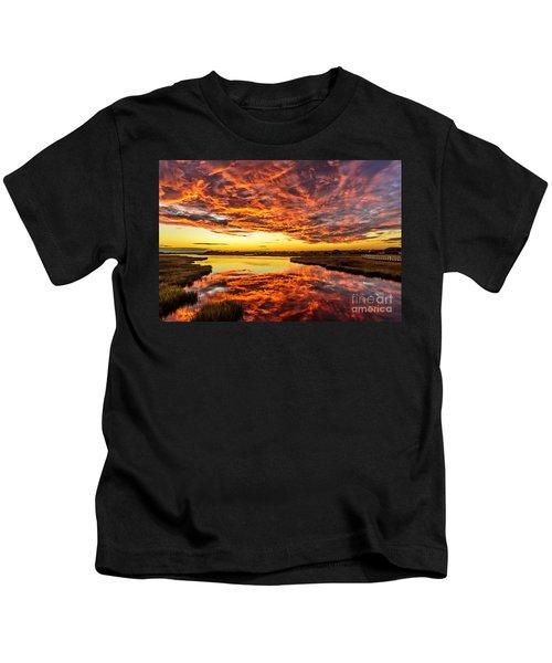 Sky On Fire Kids T-Shirt