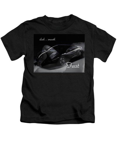 Sleek, Smooth, Fast Kids T-Shirt