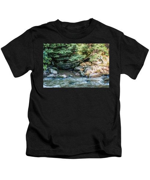 Slippery Rock Gorge - 1895 Kids T-Shirt