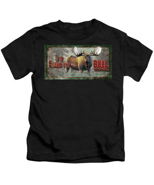 Smells Like Bull Sign Kids T-Shirt