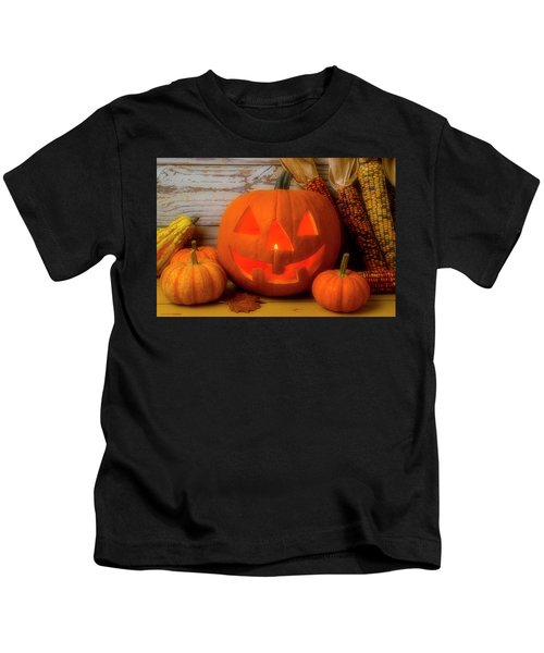 Smiling Jack O Latern Kids T-Shirt