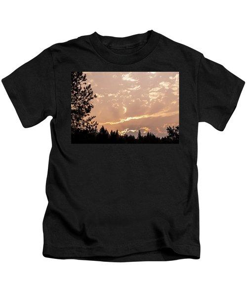 Smokey Skies Sunset Kids T-Shirt