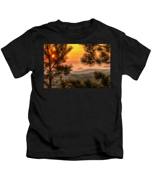 Smoky Black Hills Sunrise Kids T-Shirt
