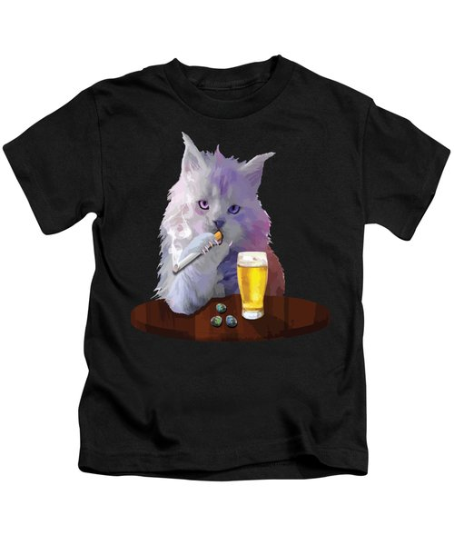 Smoky Cat Kids T-Shirt