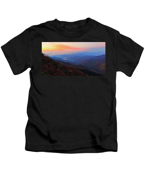Dawn From Standing Indian Mountain Kids T-Shirt
