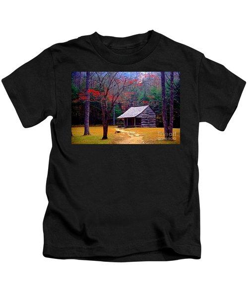 Smoky Mtn. Cabin Kids T-Shirt