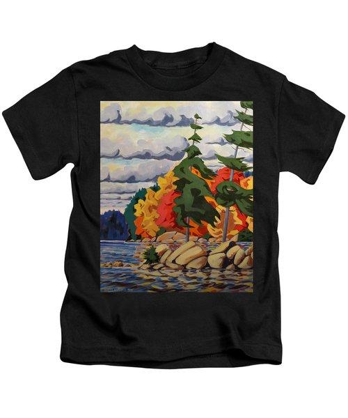Snake Island In Fall-close Kids T-Shirt
