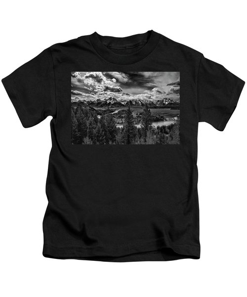 Snake River And Tetons Kids T-Shirt