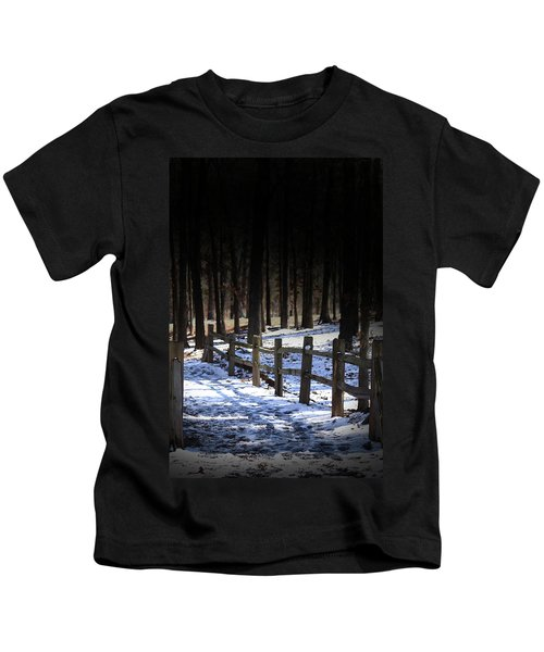 Snow Covered Bridge Kids T-Shirt