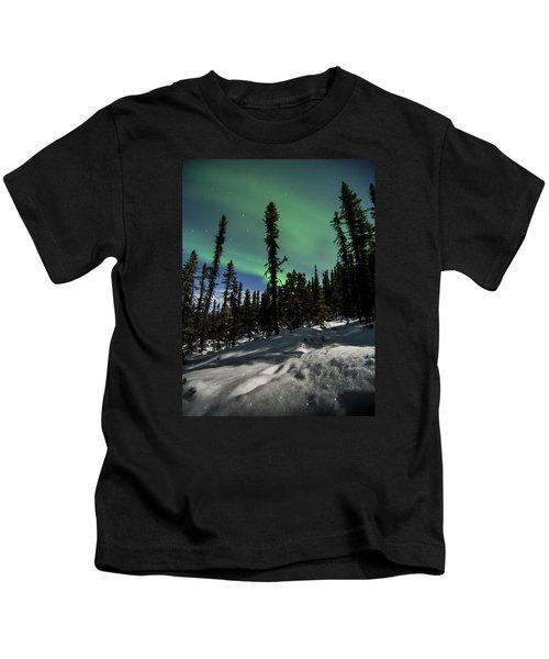 Snow Trails  Kids T-Shirt