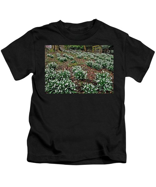 Snowdrops In Spring Woodland Kids T-Shirt