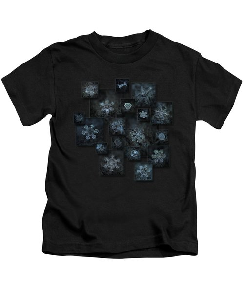 Snowflake Collage - Dark Crystals 2012-2014 Kids T-Shirt