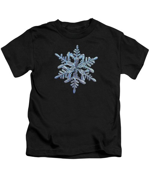 Snowflake Macro Photo - 13 February 2017 - 1 Black Kids T-Shirt