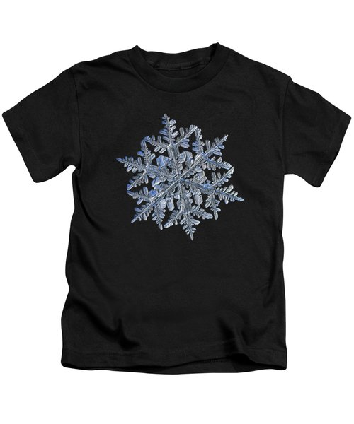 Snowflake Macro Photo - 13 February 2017 - 3 Black Kids T-Shirt
