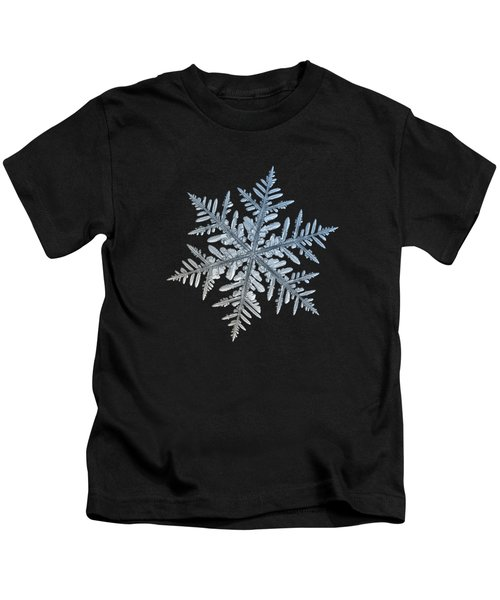 Snowflake Photo - Silverware Kids T-Shirt