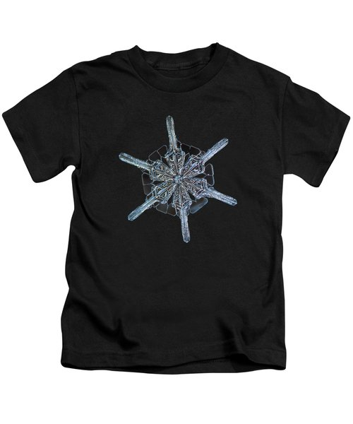 Snowflake Photo - Steering Wheel Kids T-Shirt