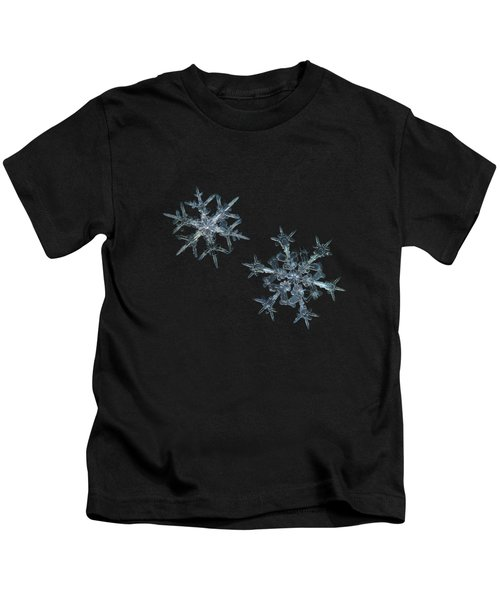 Snowflake Photo - When Winters Meets - 2 Kids T-Shirt